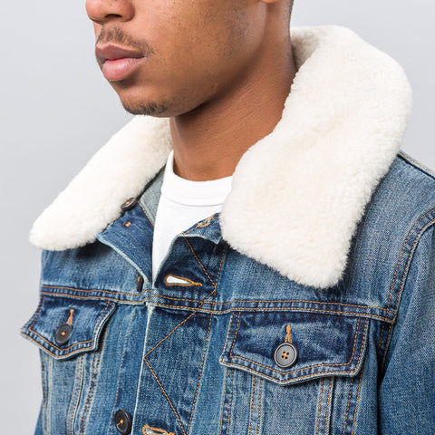 Ami Denim Jacket with Shearling - Notre