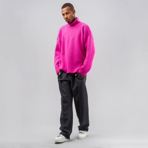 Ami Wool Knit Pullover in Pink - Notre