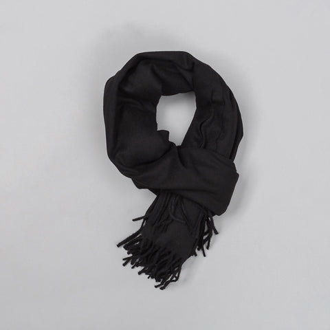 Ami Plain Knitted Scarf in Black - Notre