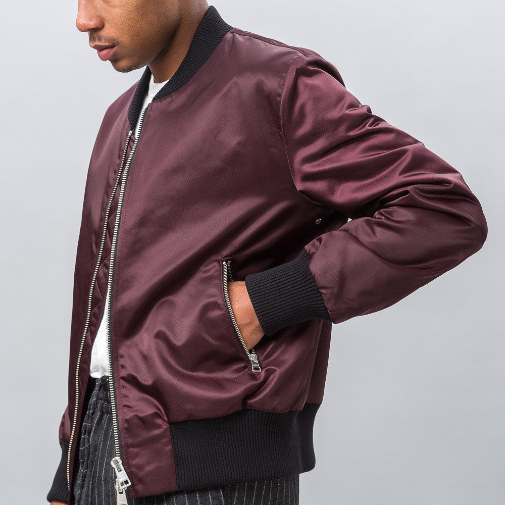 Teddy Bomber in Plum