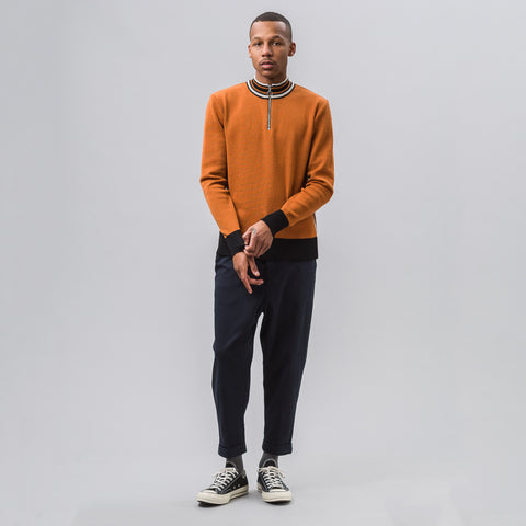 Ami Zipped Collar Sweater in Orange - Notre