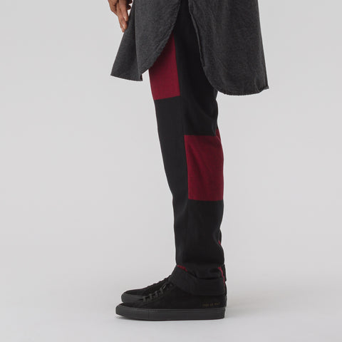 Engineered Garments Andover Pant in Black/Red - Notre