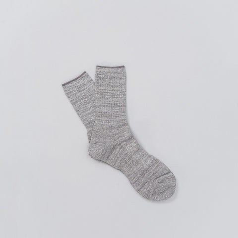 Anonymous Ism Melange Three Quarter Sock in Grey - Notre