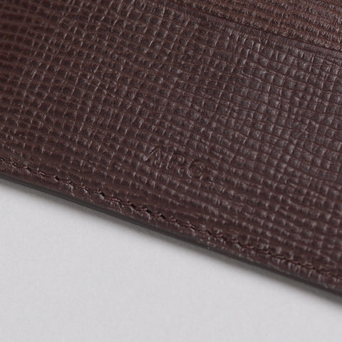 APC Andre Cardholder in Brown Leather - Notre