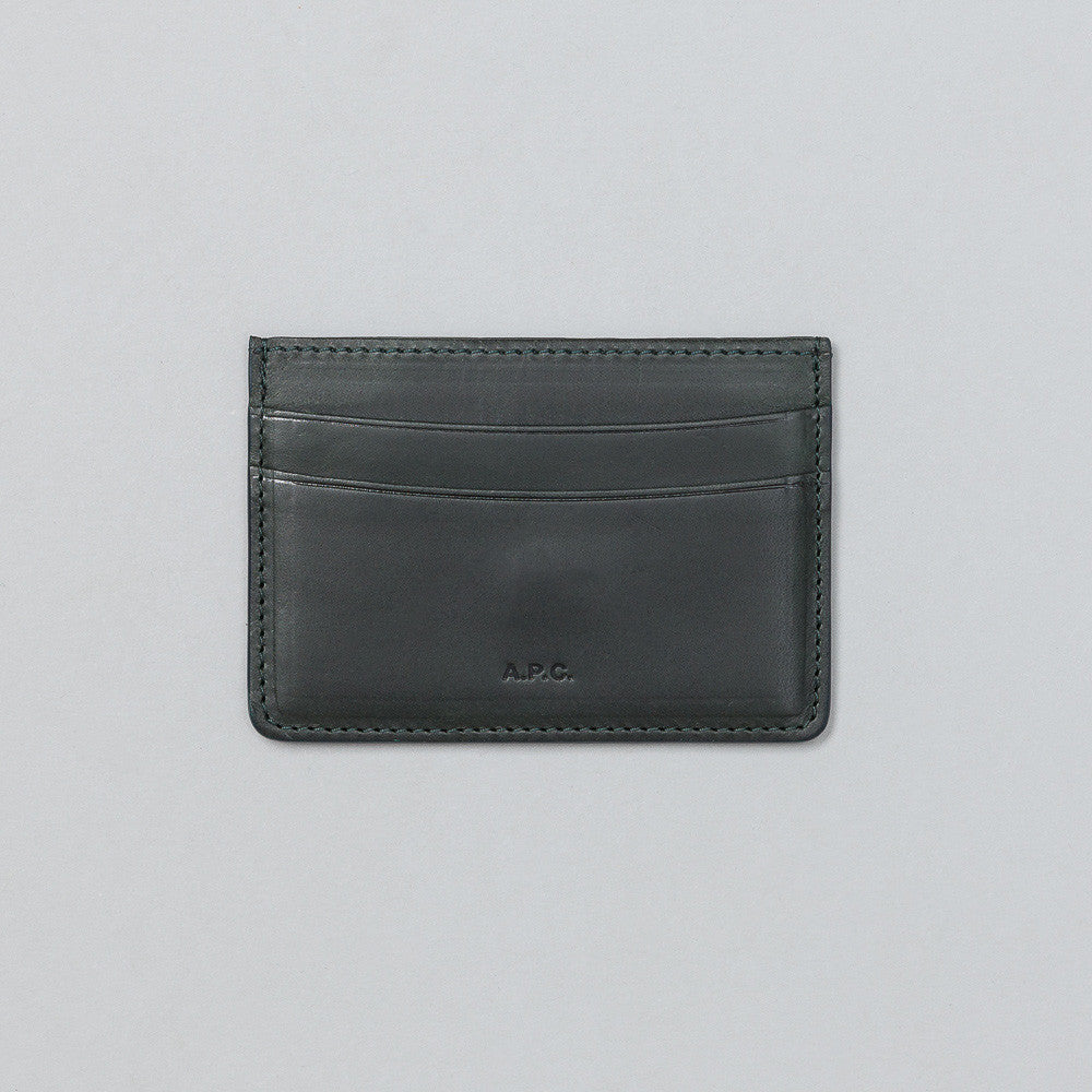 APC André cardholder in Dark Green Flat Shot