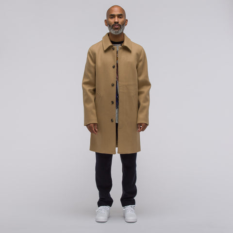 APC Auster Wool Raincoat in Beige - Notre