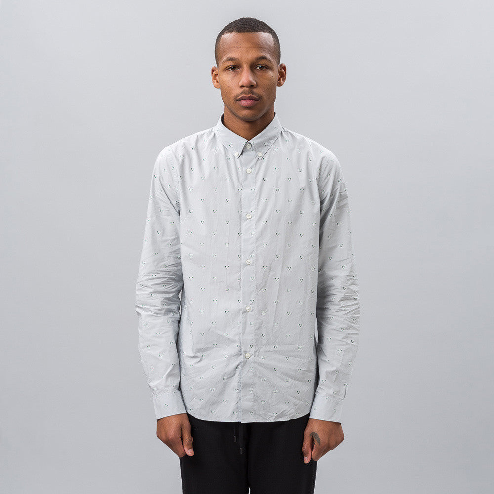 APC Button-Down Shirt in Light Grey Notre 1