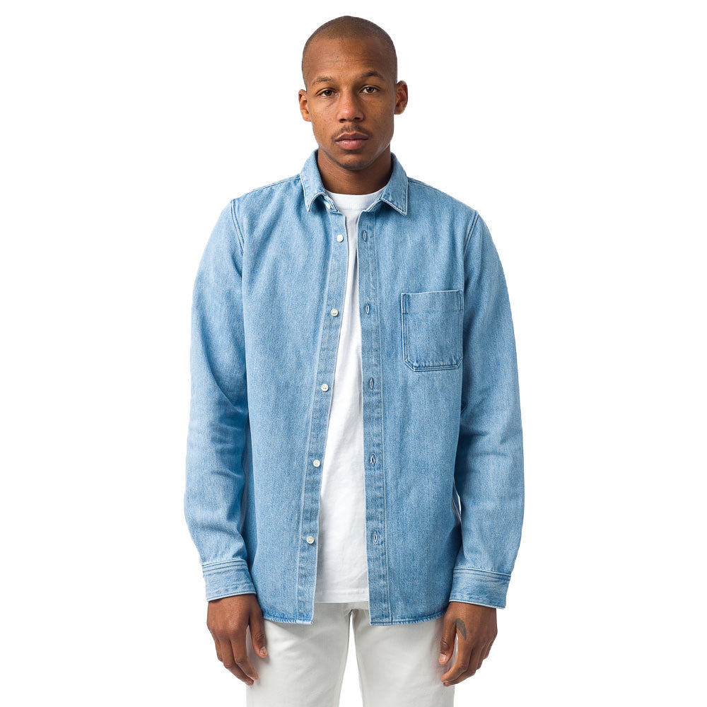 APC - Grizzli Overshirt in Stone Washed Indigo - Notre - 1