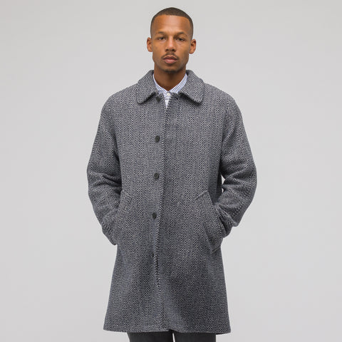 APC Ivan Coat in Dark Navy Blue - Notre
