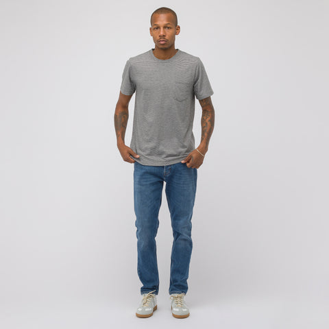 APC Keanu Pocket T-Shirt in Grey/White - Notre