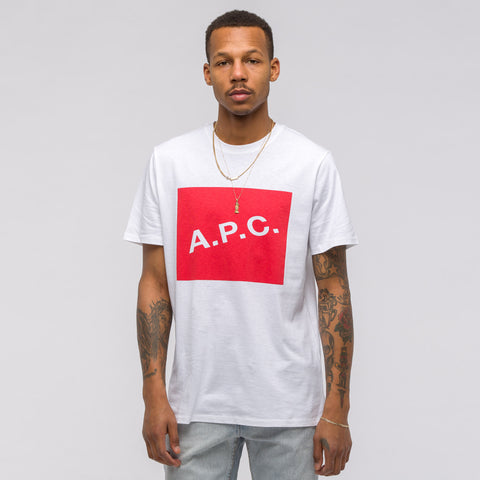APC Kraft T-Shirt in White/Red - Notre