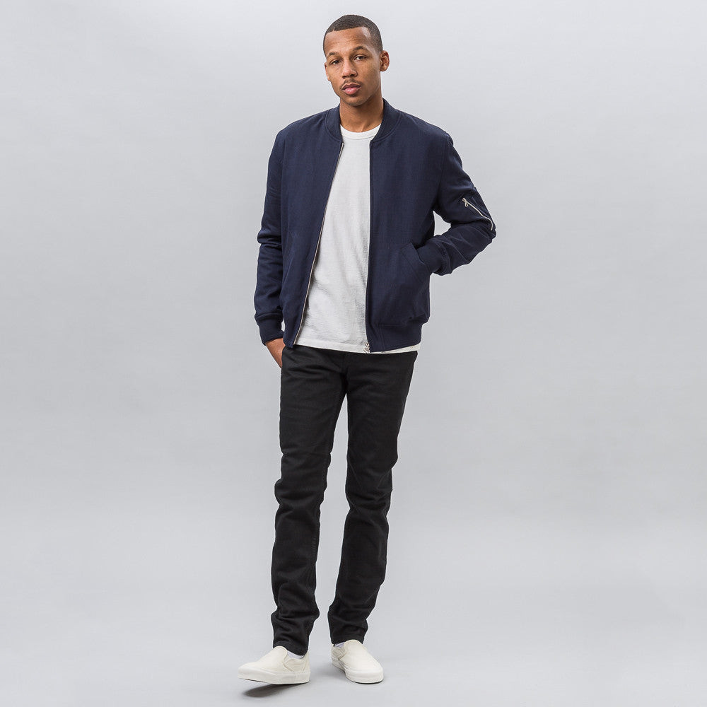 APC MA-1 Bomber Jacket in Dark Navy Blue - Notre