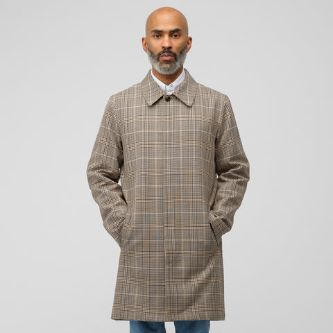 APC Stefano Coat in Beige Plaid - Notre