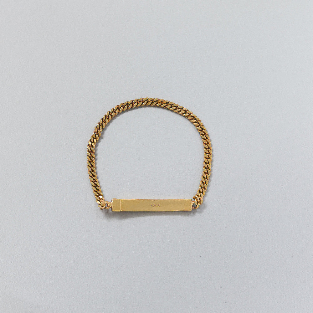 APC Marc Chain Bracelet in Laiton