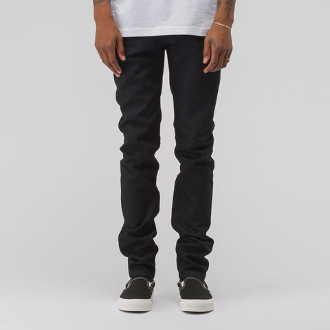 APC Petit New Standard in Black Japanese Stretch Denim - Notre