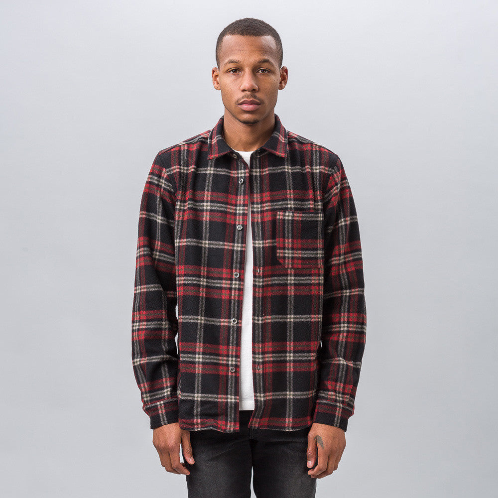 APC Trevor Overshirt in Black/Red