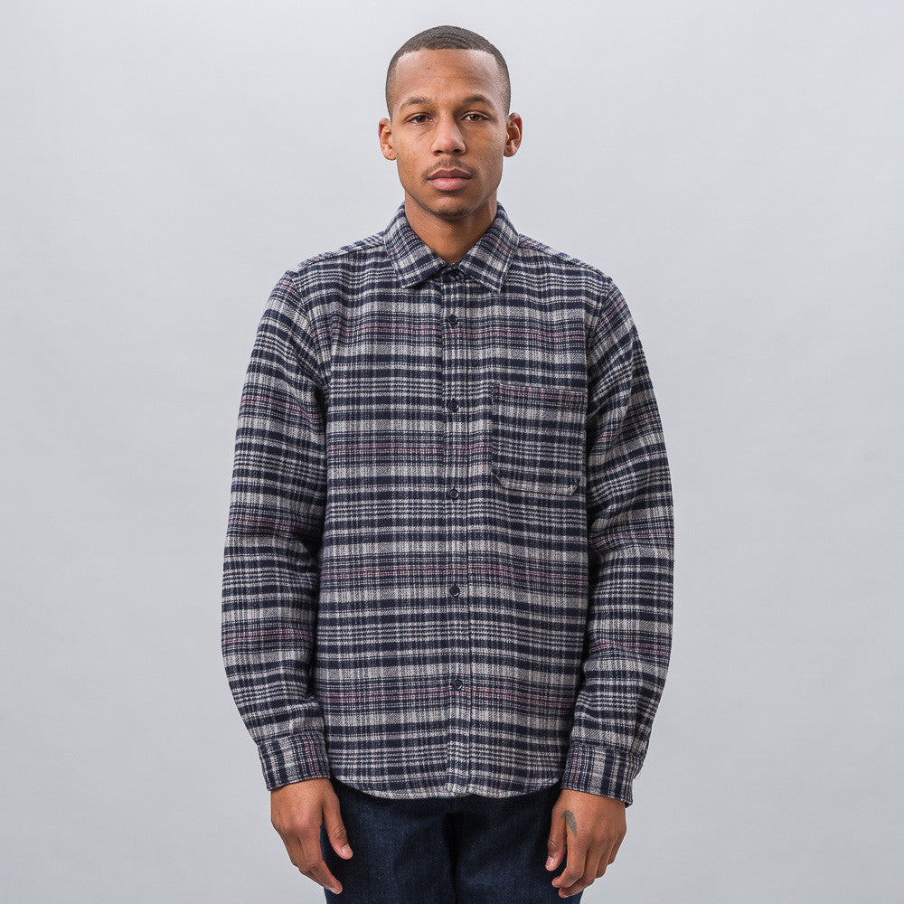 APC Trevor Overshirt in Off-Black - Notre