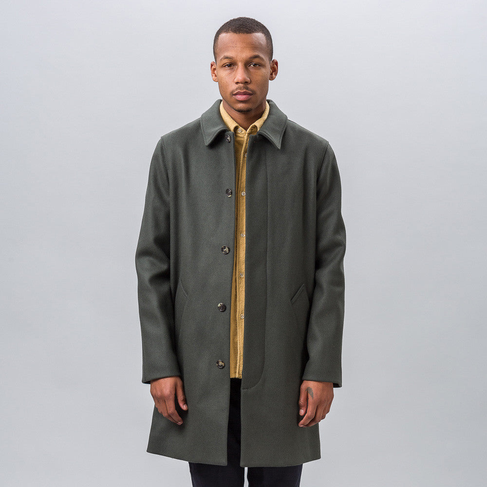 APC Verlaine Raincoat in Grey Green
