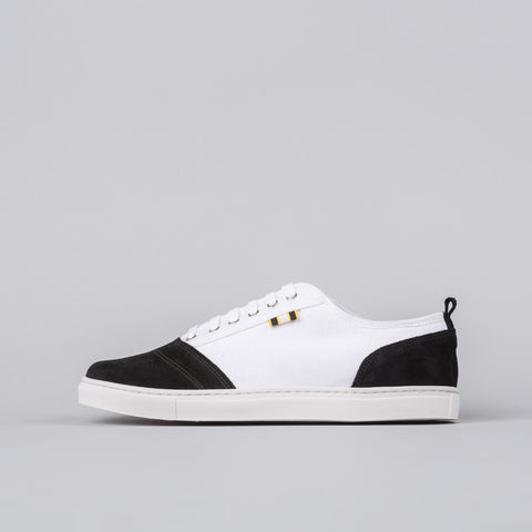 Aprix Suede/Canvas Low in White/Black - Notre
