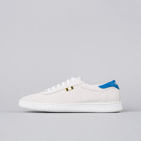 Aprix Suede Low in White/Blue - Notre