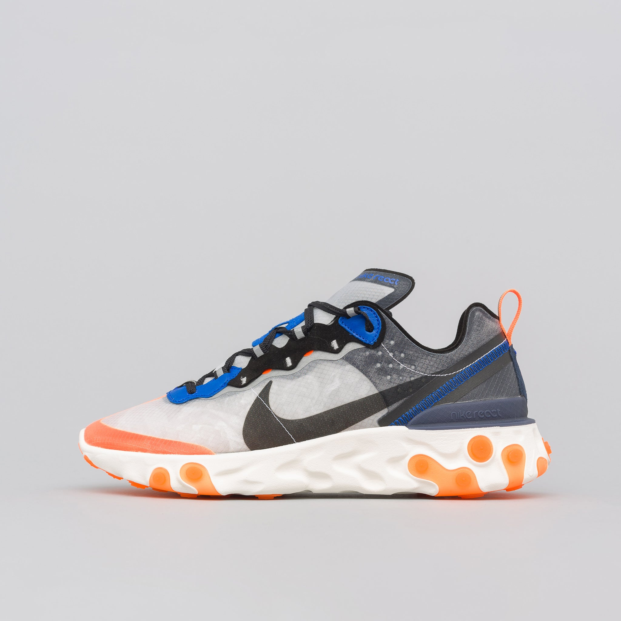 React Element 87 in Wolf Grey/Black/Thunder Blue