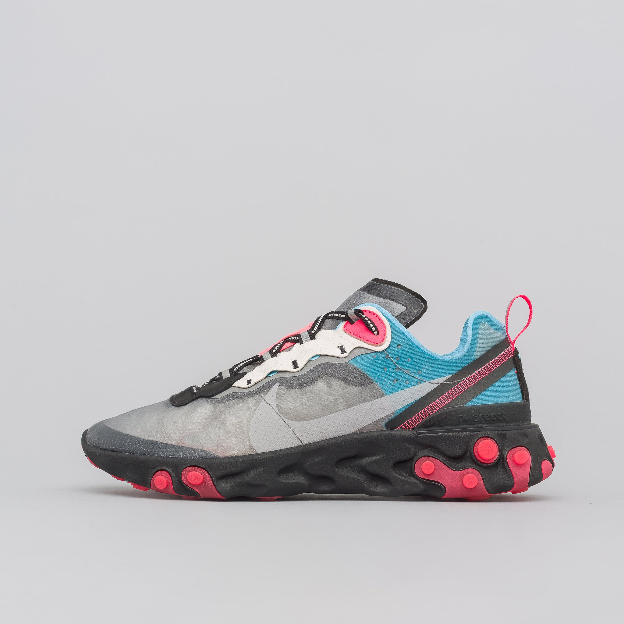 React Element 87 in Black/Cool Grey/Blue Chill