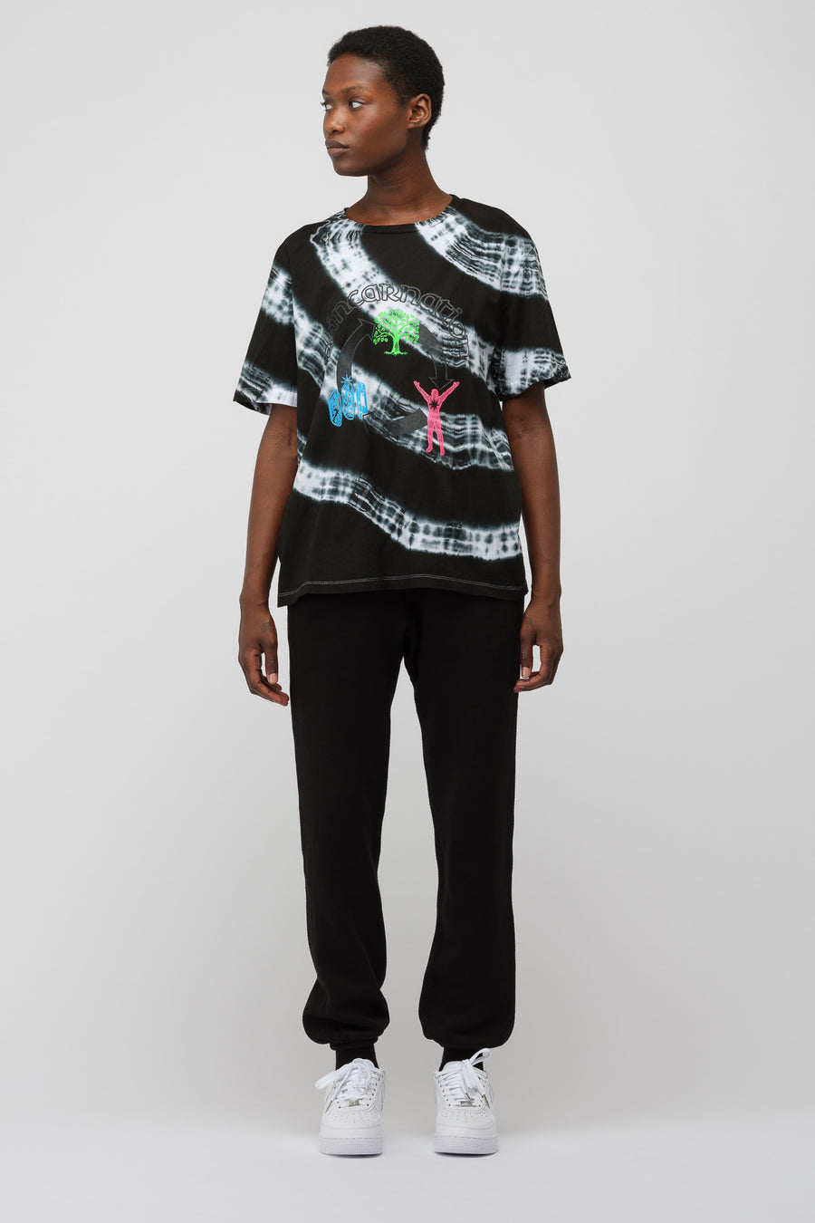 Ashley Williams Reincarnation T-Shirt in Black Tie Dye - Notre