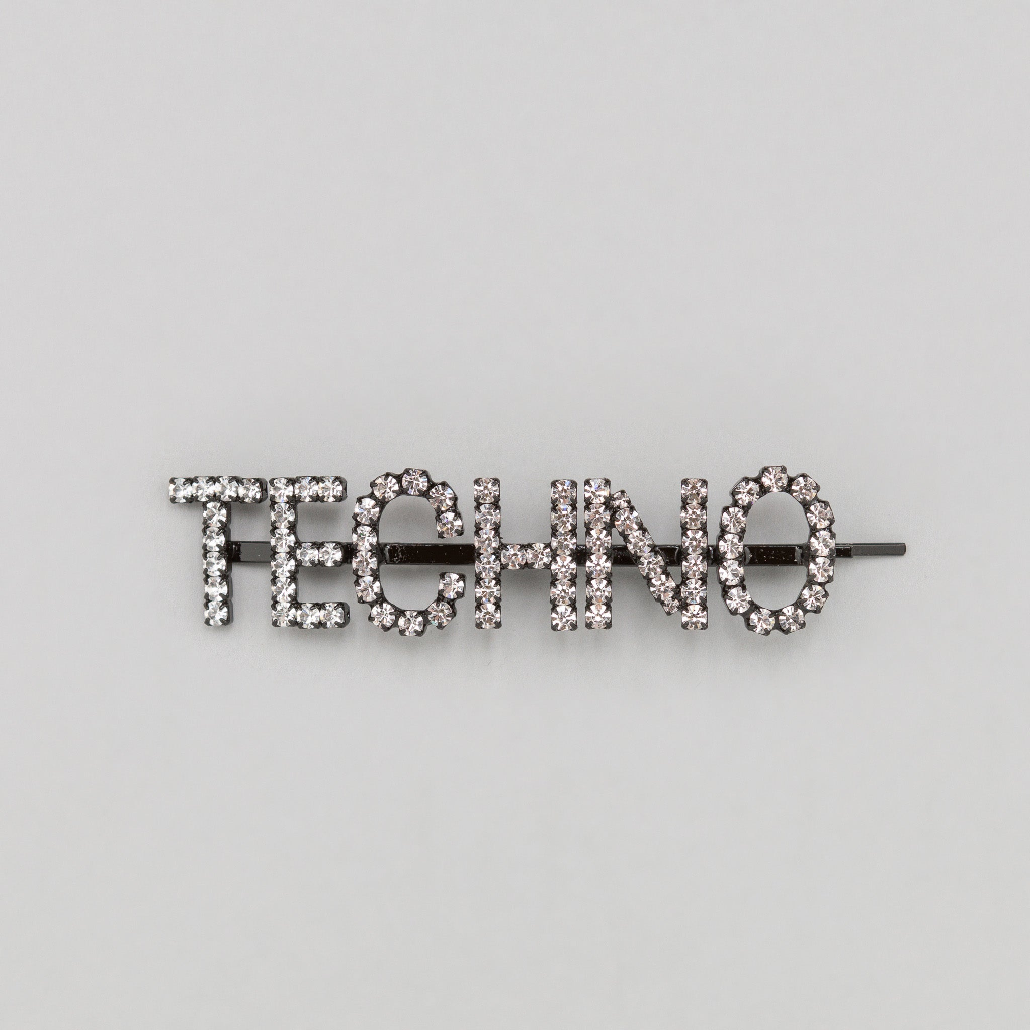 Techno Hair Pins in Clear