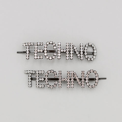 Ashley Williams Techno Hair Pins in Clear - Notre