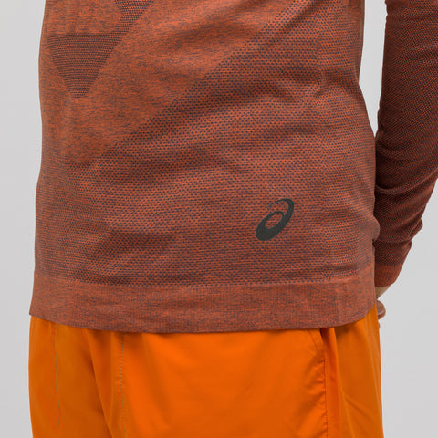 ASICS x Kiko Kostadinov Long Sleeve Seamless Top in Nova Orange - Notre