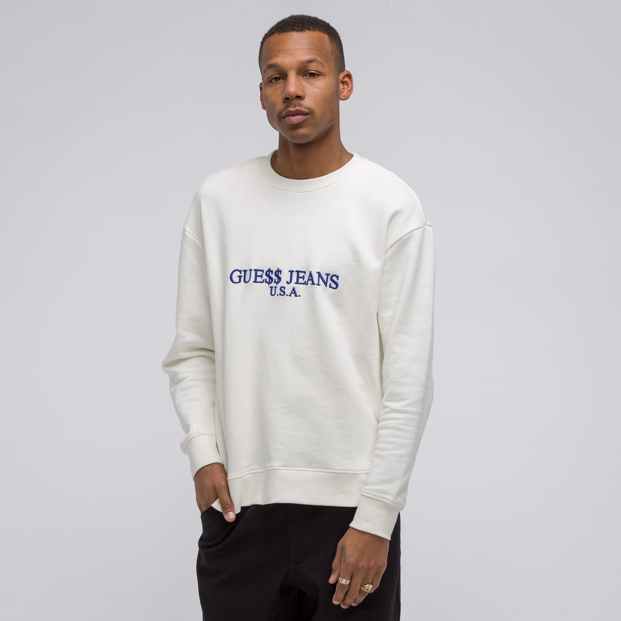 A$AP Guess USA Sweatshirt in Bone