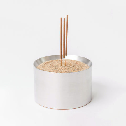 BENJAMIN EDGAR, or whatever. Sand Incense Bowl in Solid Aluminum - Notre