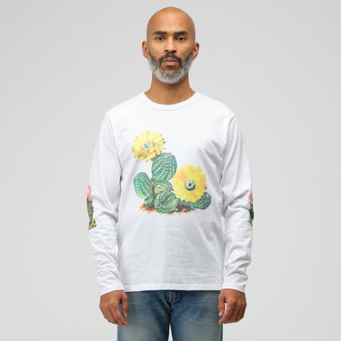 Bianca Chandon Long Sleeve Cactus Tee in White - Notre