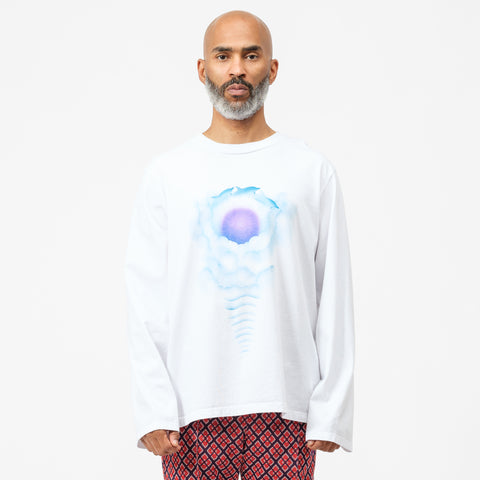Bianca Chandon Dolphin Long Sleeve T-Shirt in White - Notre