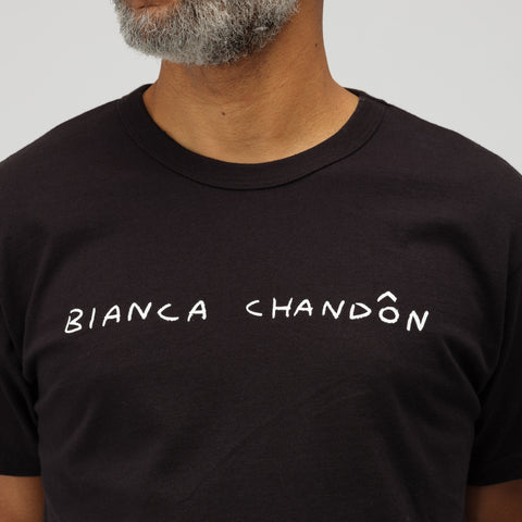 Bianca Chandon Logo T-Shirt in Black - Notre