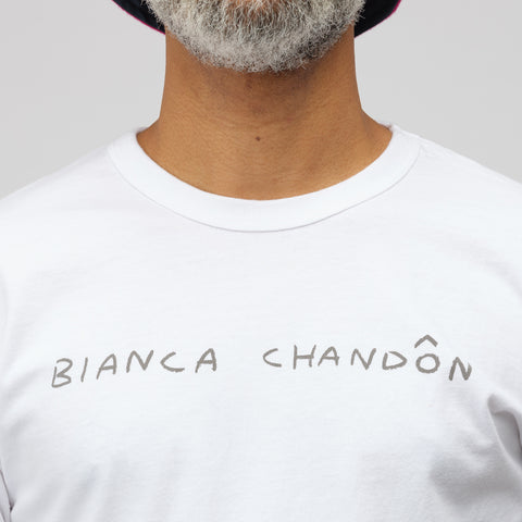 Bianca Chandon Logo T-Shirt in White - Notre