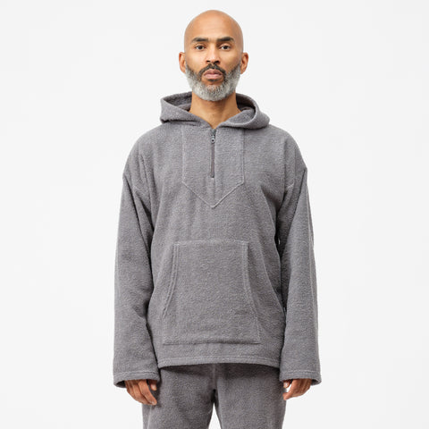 Bianca Chandon Quarter Zip Terry Cloth Pullover in Grey - Notre