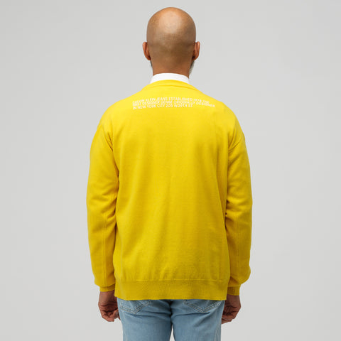 CALVIN KLEIN JEANS EST. 1978 Crew Neck Sweater in Yellow - Notre