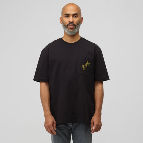 CALVIN KLEIN JEANS EST. 1978 Modernist T-Shirt in Black/Yellow - Notre