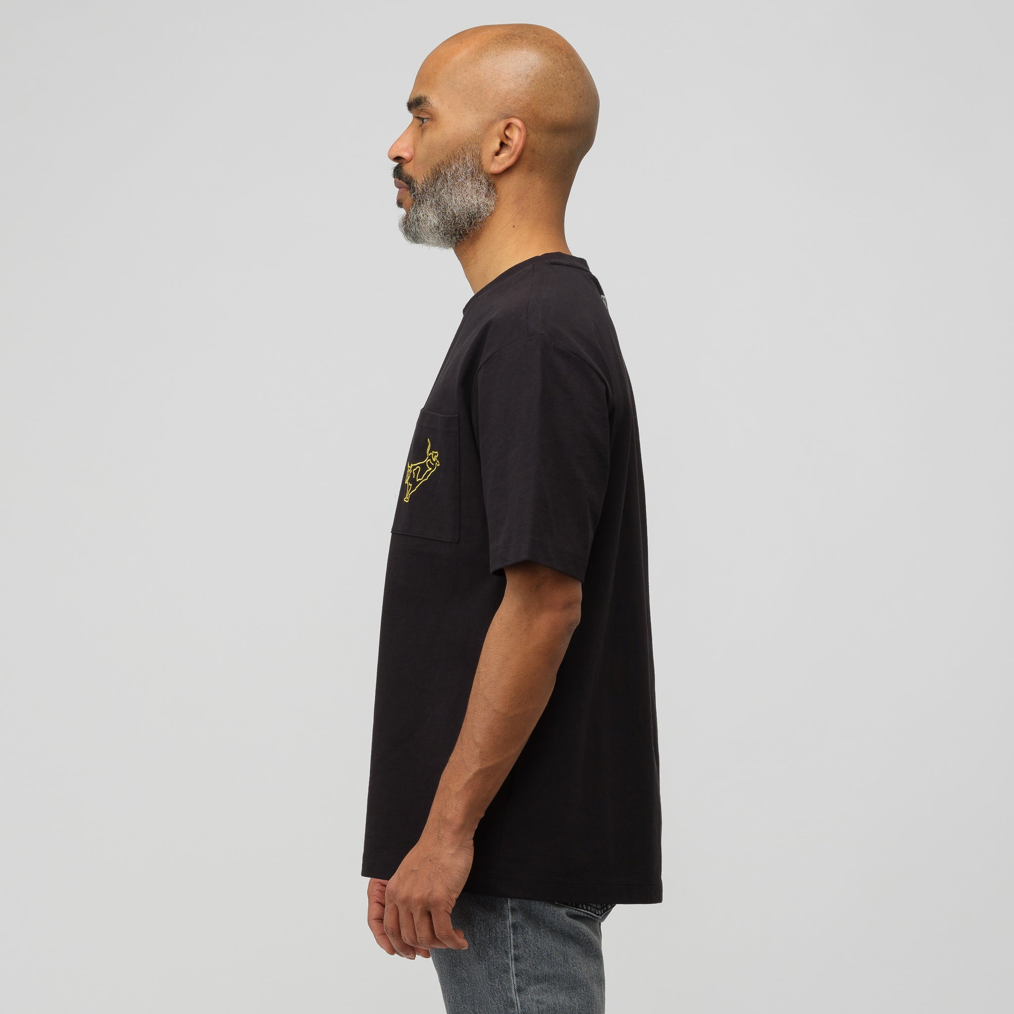 Modernist T-Shirt in Black/Yellow