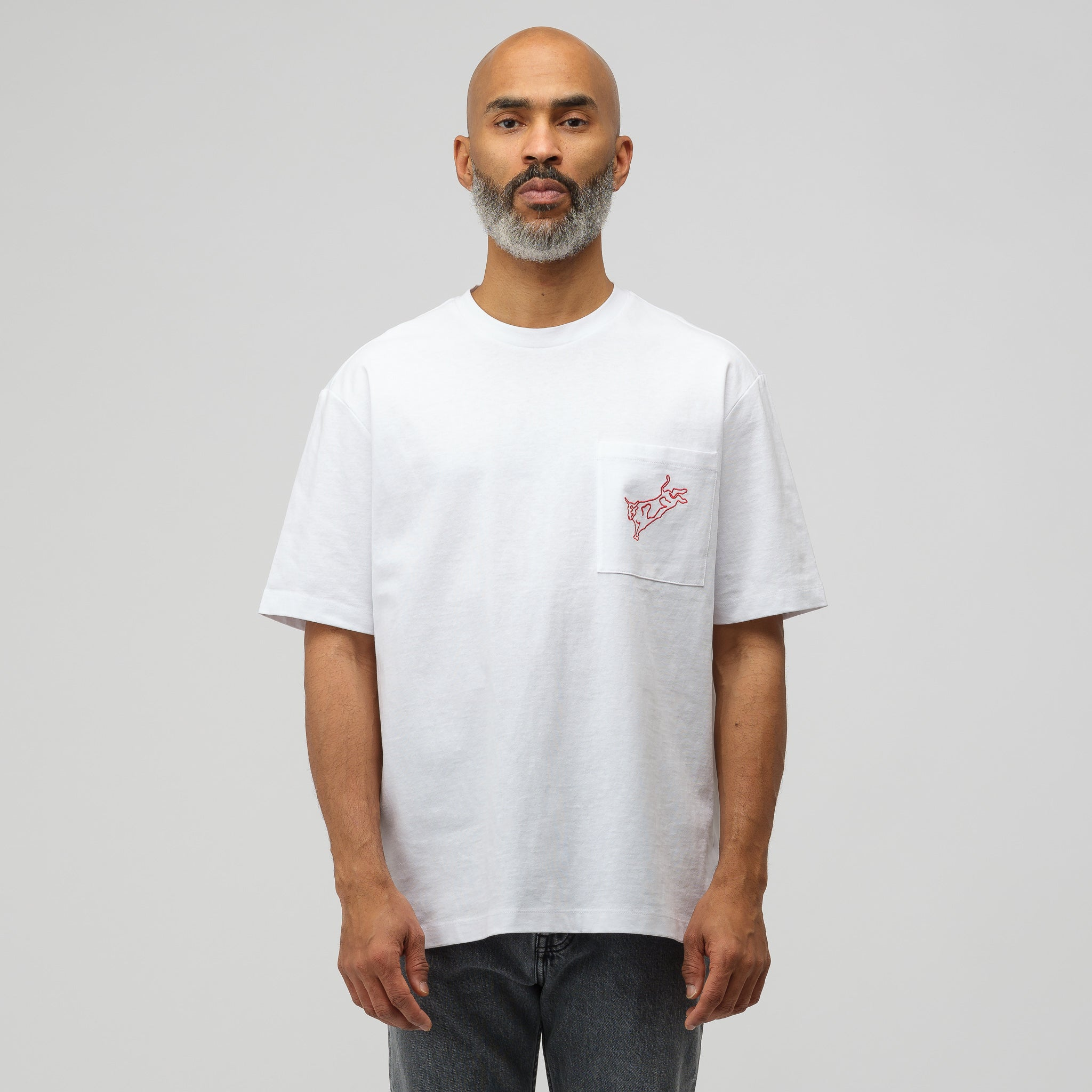 Modernist T-Shirt in White/Red