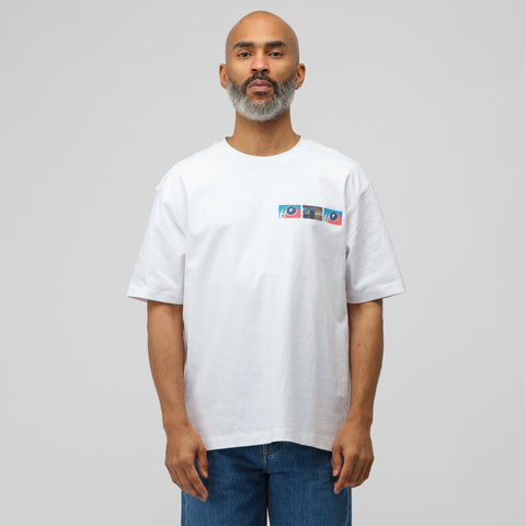CALVIN KLEIN JEANS EST. 1978 Environmental Communications T-Shirt in White - Notre