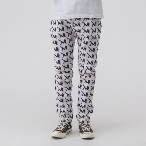 CALVIN KLEIN JEANS EST. 1978 All Over Print Brooke Denim in White/Black - Notre