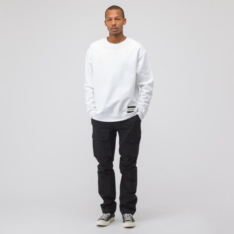 CALVIN KLEIN JEANS EST. 1978 EST. 1978 Small Patch Crew Neck in White - Notre