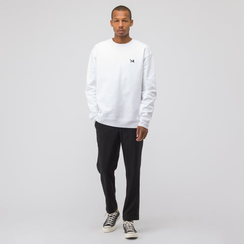 CALVIN KLEIN JEANS EST. 1978 Brooke Embroidery Crew Neck in White/Black - Notre