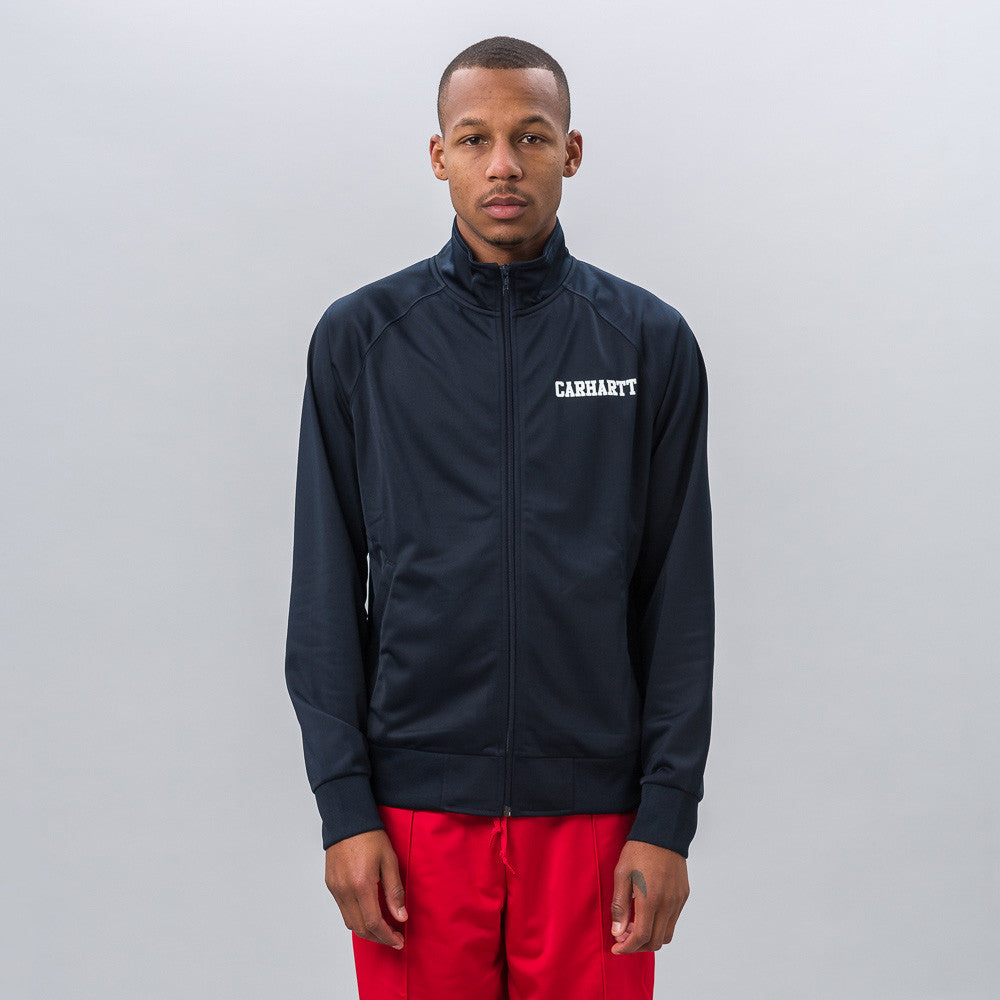 Carhartt WIP College Track Jacket in Navy/White