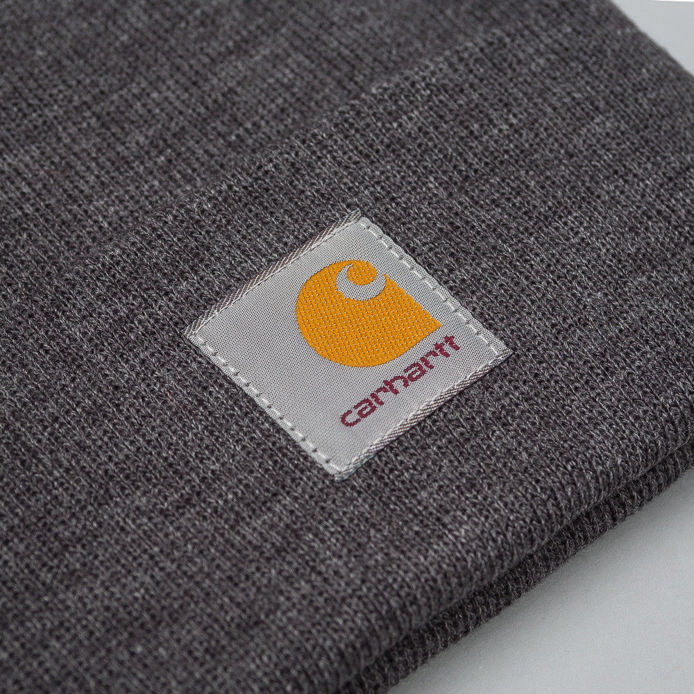 Carhartt WIP - Short Watch Hat in Dark Grey Heather - Notre - 1