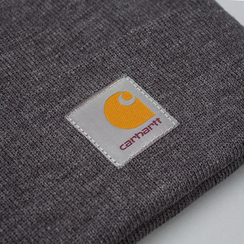 Carhartt WIP Short Watch Hat in Dark Grey Heather - Notre