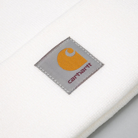 Carhartt WIP Short Watch Hat in White - Notre