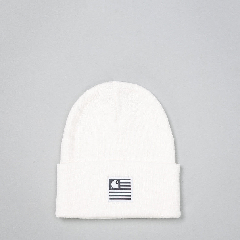 Carhartt WIP - State Beanie in White - Notre - 1